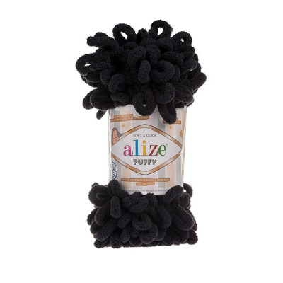 ALIZE PUFFY - 60 BLACK